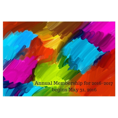 Annual Membership for 2016-2017 begins May 31, 2016