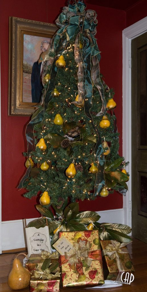 """Patridge in a Pear Tree"" Current bid: $150 Buy it now: $250 Decorated by: The Community Playhouse"