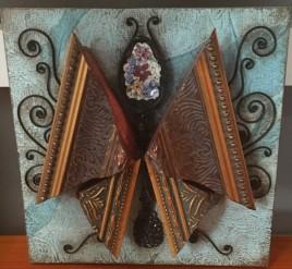 Autumn Leaves Butterfly by Maxine Fandrich $50