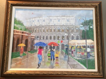 Colosseum in Rain by Dennis Lankford $395