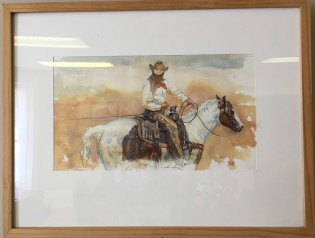 Cowboy On Horse by Jim House $600