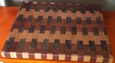 End Grain Cutting Board by Vince Zaccardi $60