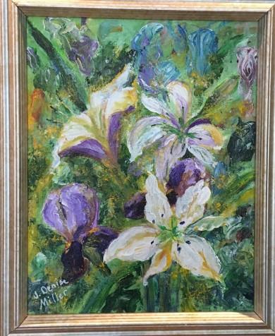 Floral Fantasy by J. Denise Miller $65