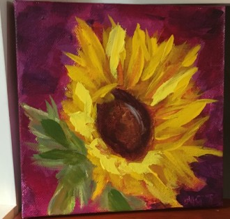 Magenta Moonlight Sunflower by Melissa Thompson $50