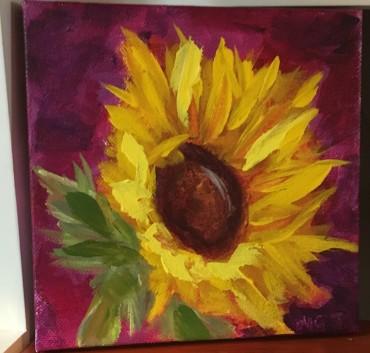 Magenta Moonlight Sunflower by Melissa Thompson $50