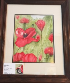 Red Poppies by Marie Kelly $60