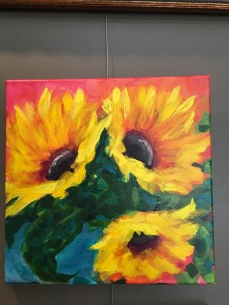 Sunflower Flambe by Melissa Thompson $125