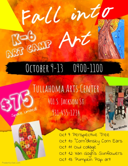 Fall Into Art Flyer with Michelle Cain