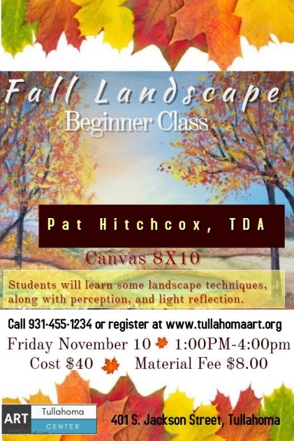 Pat Hitchcox Fall Landscape flyer
