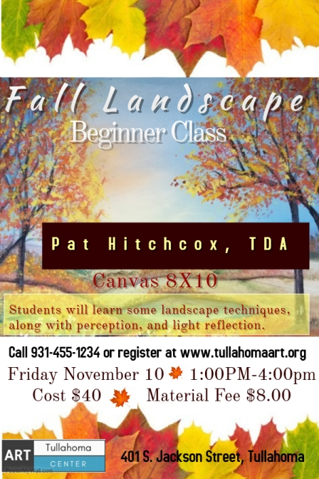 Pat Hitchcox Fall Landscape flyer