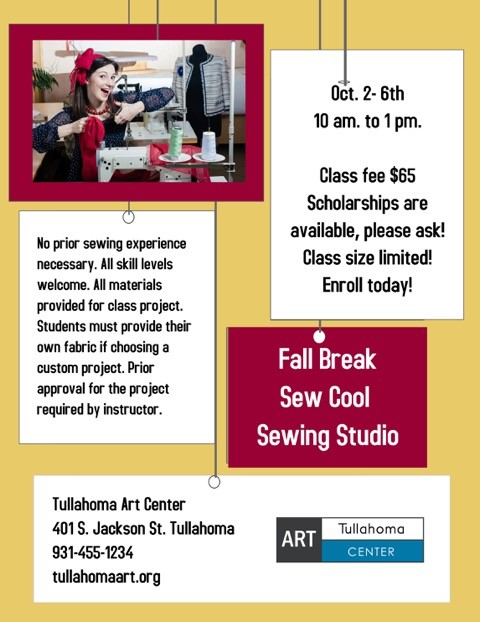Pat Rollie Fall 2017 Sewing camp